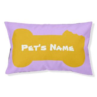 Het gele Gekauwde Been personaliseerde het Hondenbedden
