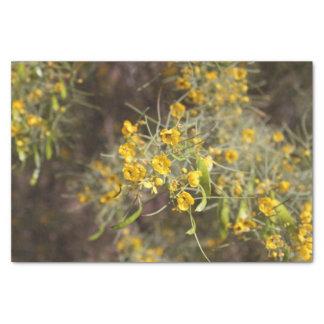 Het gele Papieren zakdoekje van Bloemen Tissuepapier