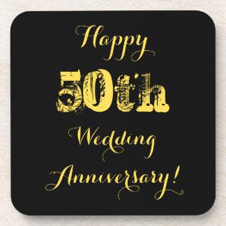 Het gelukkige 50ste Jubileum van het Huwelijk Bier Onderzetter