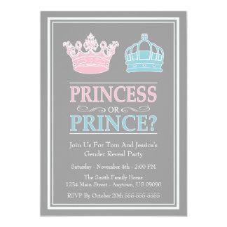 Het Geslacht van de prinses of van de Prins 12,7x17,8 Uitnodiging Kaart
