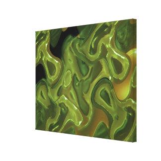 Het GESMOLTEN Abstracte Art. van de Was Canvas Afdrukken