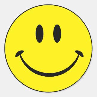 Het Gezicht van het Geluk van Smiley Ronde Sticker