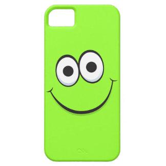 Het glimlachen het groene gelukkige grappige gezic Case-Mate iPhone 5 hoesjes