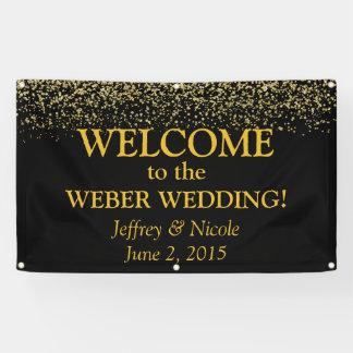 Het goud schittert de Banner van het Huwelijk van