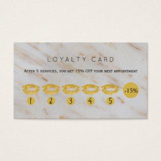 Het goud schittert loyaliteit van de de visitekaartjes