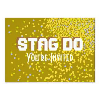 Het goud van de Partij van het Mannetje van de 12,7x17,8 Uitnodiging Kaart