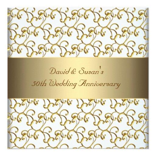 Het goud wervelt de Gouden 50ste Partij van de Ver Persoonlijke Uitnodiging