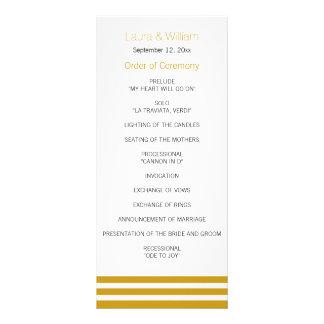 Het gouden Gestreepte Programma van het Huwelijk
