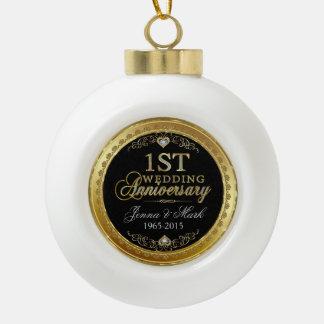 Het gouden Jubileum van het Lijst & Eerste van het Keramische Bal Ornament