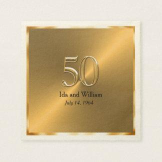 Het gouden Jubileum van het Lijst vijftigste Papieren Servetten