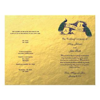 Het gouden Programma van het Huwelijk van de Pauw Persoonlijke Folder