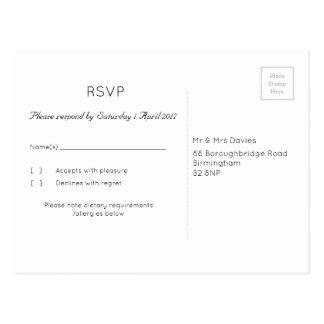 """Het grafiet Huwelijk RSVP van de """"Boom"""" Briefkaart"""