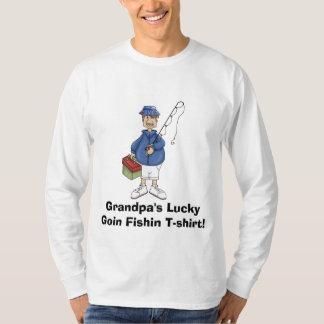 het grandpa_fishing, LuckyGoin Fishin T-s… T Shirt