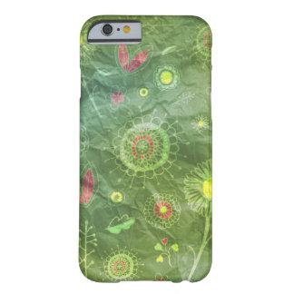 Het grappige groene Patroon van de Krabbel Barely There iPhone 6 Hoesje