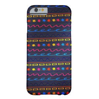 Het grappige kleurrijke Patroon van de Krabbel Barely There iPhone 6 Hoesje