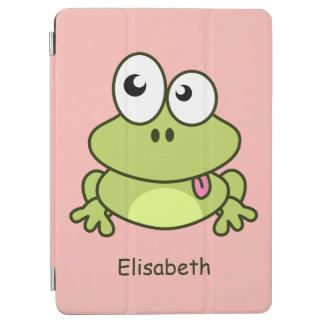 Het grappige leuke kind van de kikkercartoon iPad air cover
