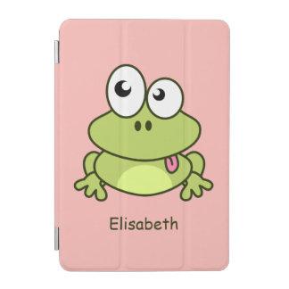 Het grappige leuke kind van de kikkercartoon iPad mini cover