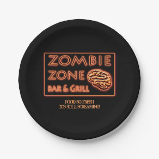 Het grappige zo Verse Voedsel van de Zombie van Papieren Bordje