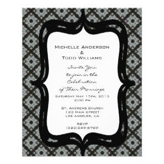 Het grijze Huwelijk van het Patroon Flyer 11,4 X 14,2 Cm