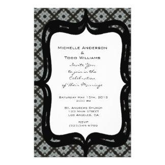 Het grijze Huwelijk van het Patroon Flyer 14 X 21,6 Cm