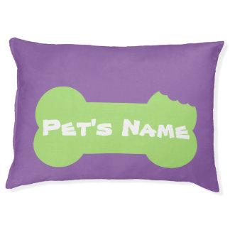 Het groene Gekauwde Been personaliseerde Groot Bed Hondenbedden