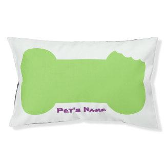 Het groene Gekauwde Been personaliseerde het Hondenbedden