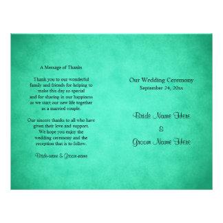 Het groene Gevlekte Programma van het Huwelijk van Flyer 21,6 X 27,9 Cm