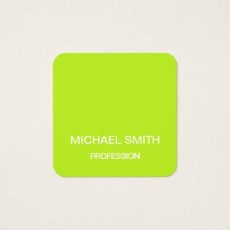 Het groene minimalistische trendy visitekaartje vierkante visitekaartjes