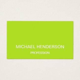 Het groene minimalistische trendy visitekaartje visitekaartjes
