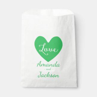 Het groene & Witte Huwelijk van de Liefde van het Bedankzakjes 0