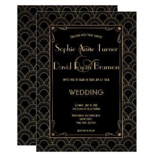 Het grote Vintage Huwelijk van het Art deco van 12,7x17,8 Uitnodiging Kaart