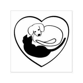 Het Hart van de hond en van de Kat/van het Puppy Zelfinktende Stempel