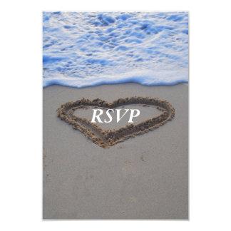 Het Hart van het Huwelijk van het Strand RSVP in Kaart