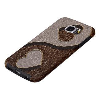 Het Hart van Yin Yang van de leder-blik Samsung Galaxy S6 Hoesje