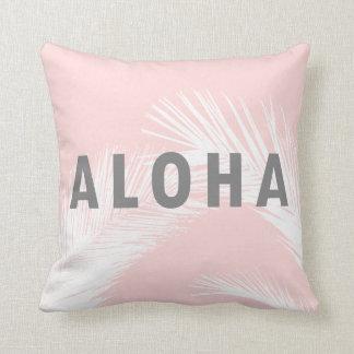 Het Hawaiiaanse Grijze Roze van de Palmen van de Sierkussen