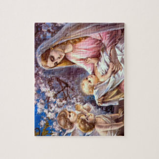 Het heilige Maagdelijke Mary en Kind Jesus van het Puzzel