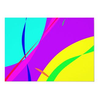 Het heldere Abstracte Ontwerp van Kleuren 12,7x17,8 Uitnodiging Kaart