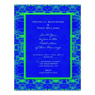 Het heldere blauwe Huwelijk van het Patroon van he Folder