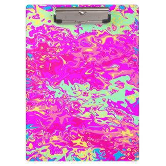 Het heldere Ontwerp van Kleuren Marbleized Klembord