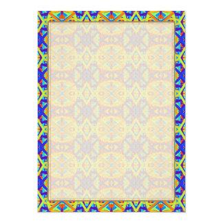 Het heldere Patroon van de Pret van Kleuren 13,9x19,1 Uitnodiging Kaart