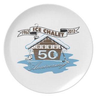 Het HerdenkingsBord van het Jubileum van het Chale Melamine+bord
