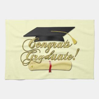 Het het Gediplomeerde Diploma van Congrats en pet Handdoeken