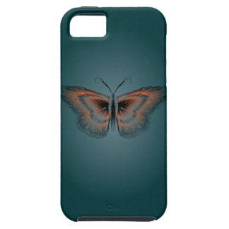 Het Hoesje van de Contour van de vlinder Tough iPhone 5 Hoesje