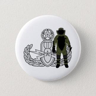 Het hoofd Kostuum van de Bom EOD Ronde Button 5,7 Cm