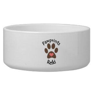 Het huisdierenkom van Reiki van Pawprints Voerbakje