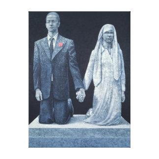 Het huwelijk canvas afdruk
