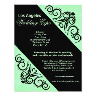 Het Huwelijk (Groene) Expo van het Hart van Flyer 21,6 X 27,9 Cm