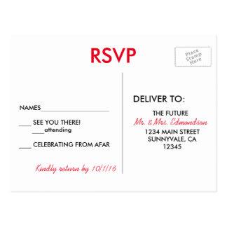 Het Huwelijk RSVP van de Bestemming van Las Vegas Briefkaart