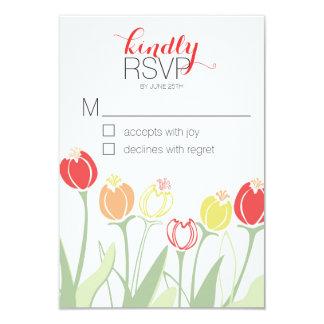 Het Huwelijk RSVP | van tulpen Heldere Kleuren 8,9x12,7 Uitnodiging Kaart