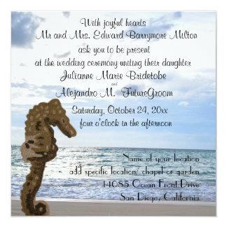 Het Huwelijk Seahorse van het strand Kaart
